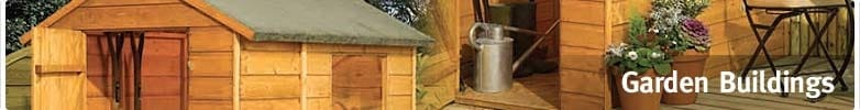 10ft x 12ft (3.0m x 3.6m) Garden Buildings, Summer Houses, Log Cabins, Sheds and Stores