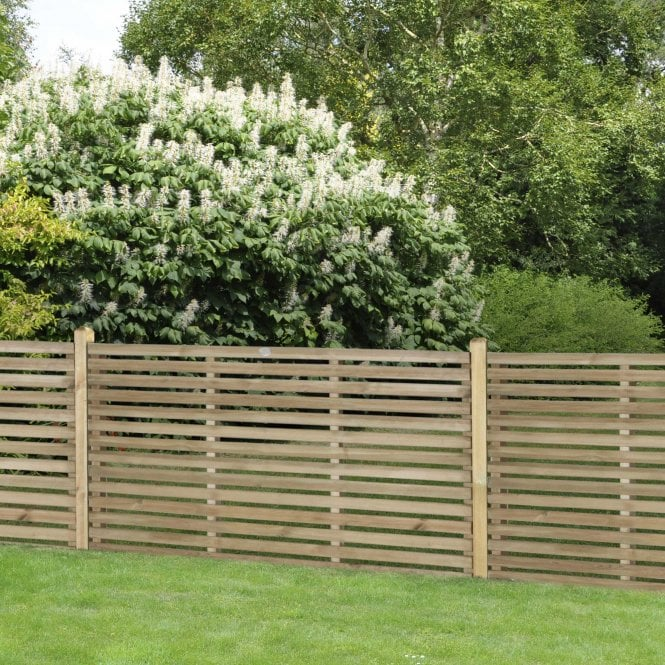 Click to view product details and reviews for 18m X 09m Pressure Treated Contemporary Slatted Fence Panel.