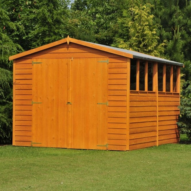 Click to view product details and reviews for 10 X 10 Overlap Apex Double Door Shed.