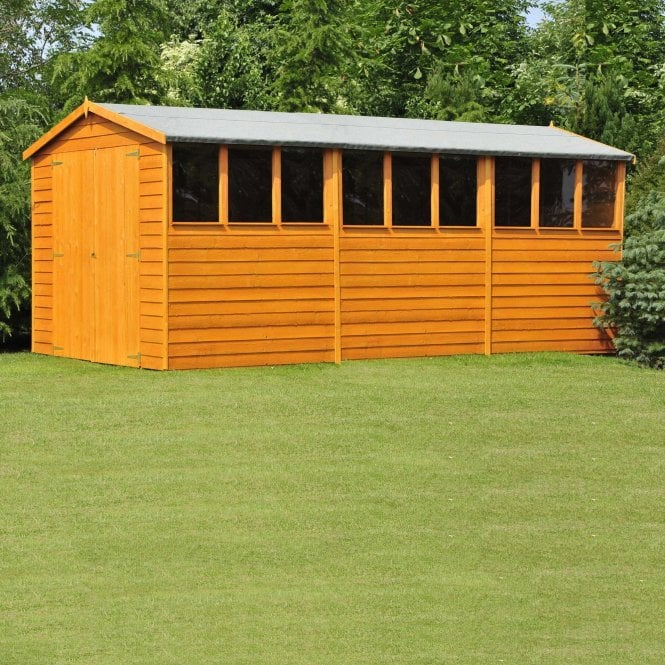 Click to view product details and reviews for 10 X 15 Overlap Apex Double Door Shed.