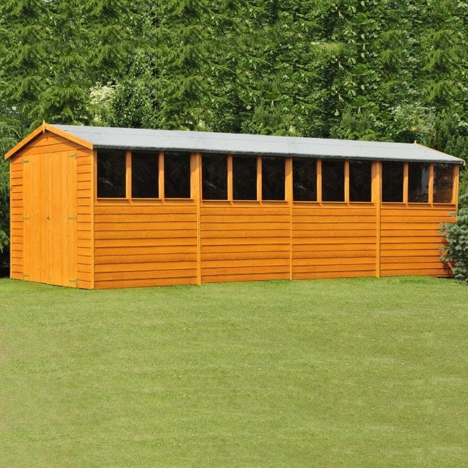 Click to view product details and reviews for 10 X 20 Overlap Apex Double Door Workshop Shed.