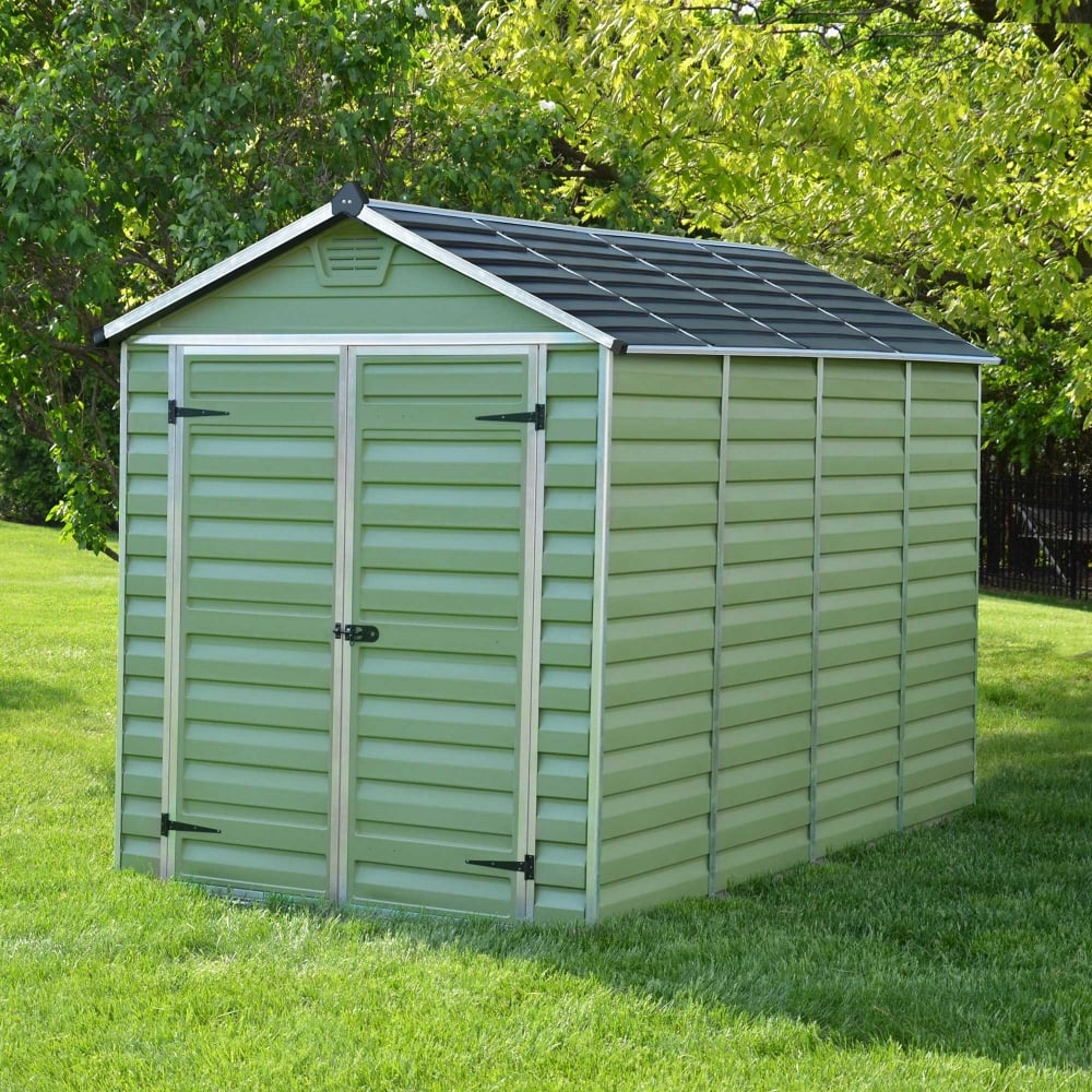 Mercia 10 X 6 Green Apex Plastic Shed