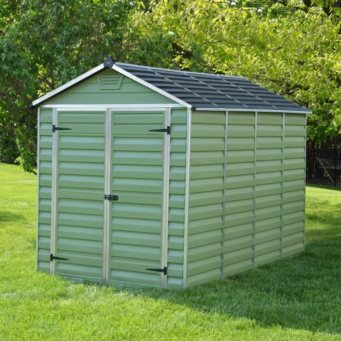 10 x 6 Green Apex Plastic Shed