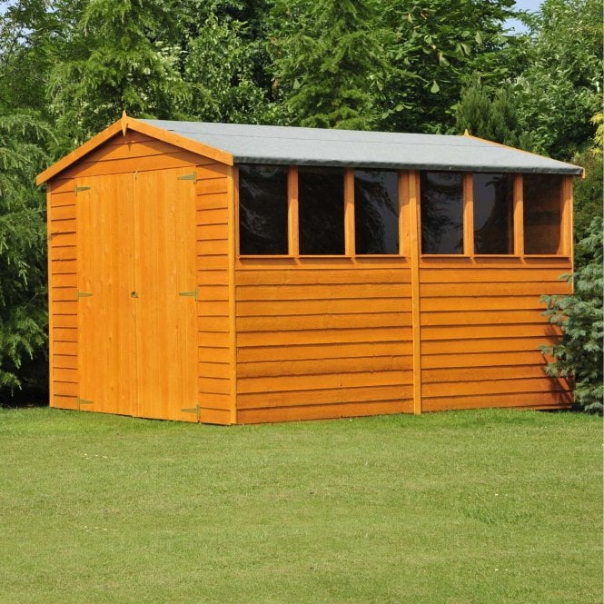 Click to view product details and reviews for 10 X 6 Overlap Apex Double Door Shed.