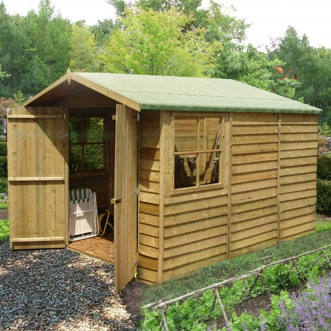 10 X 7 Overlap Pressure Treated Shed