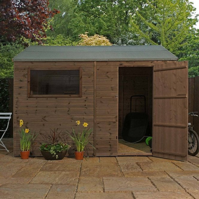 Click to view product details and reviews for 10 X 8 Pressure Treated Reverse Apex Shed.