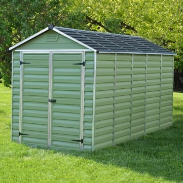 12 x 6 Green Apex Plastic Shed