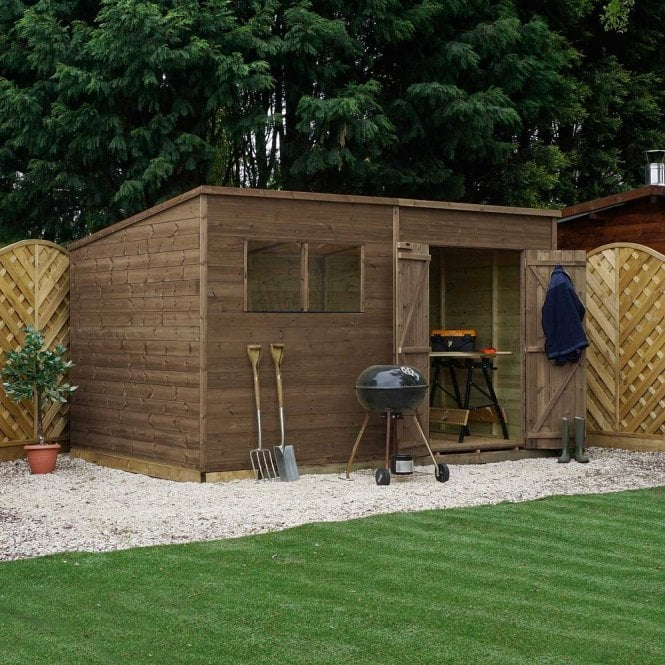 Click to view product details and reviews for 12x5 Pressure Treated Pent Shed.