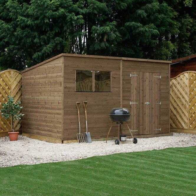 Click to view product details and reviews for 12x6 Pressure Treated Pent Shed.