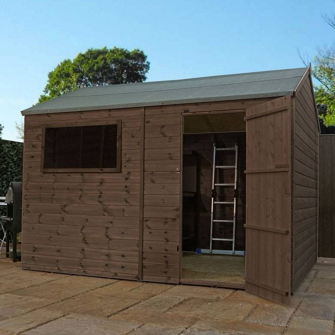 Click to view product details and reviews for 12x8 Pressure Treated Reverse Apex Shed.