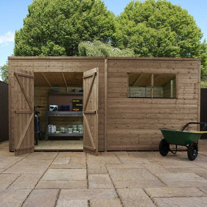 Click to view product details and reviews for 14 X 6 Pressure Treated Pent Shiplap Shed.