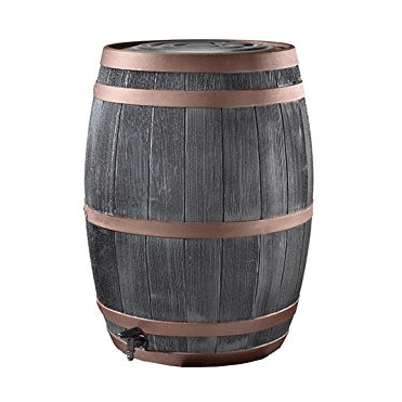 190L Wood Effect Barrel Water Butt