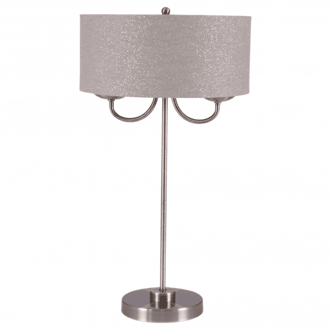 Click to view product details and reviews for 2 Light Antique Brass Shade Table Lamp.