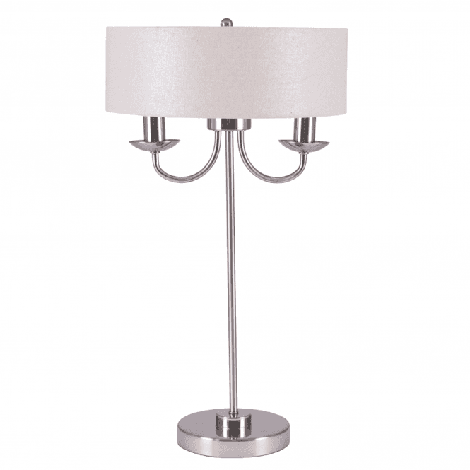 Click to view product details and reviews for 2 Light Silver Glitter Shade Table Lamp.