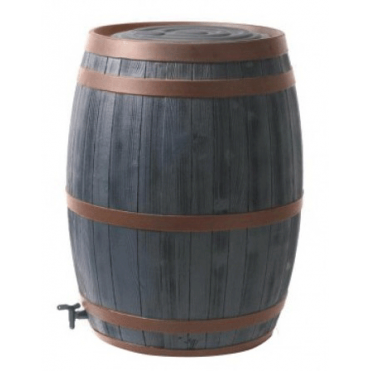 235L Oak Wood Effect Barrel Water Butt