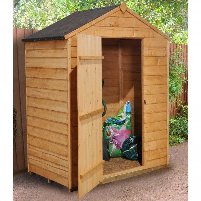 Click to view product details and reviews for 3 X 5 Overlap Dip Treated Apex Shed.
