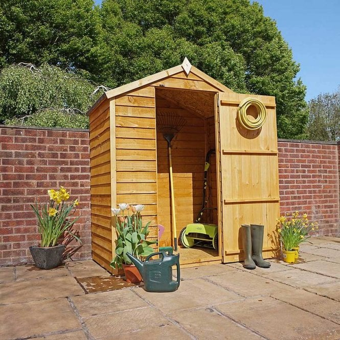 Click to view product details and reviews for 3 X 5 Windowless Overlap Apex Shed.