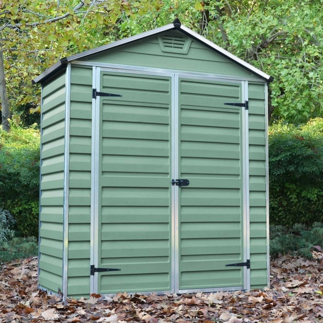 3 x 6 Green Apex Plastic Shed