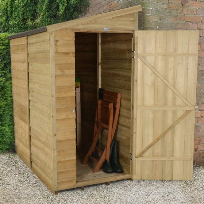 Click to view product details and reviews for 3 X 6 Overlap Pressure Treated Pent Wall Shed.