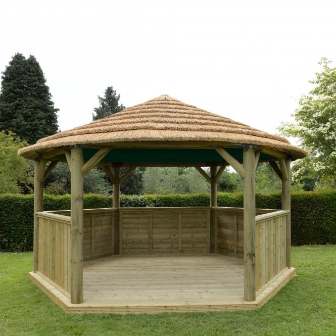 47m Hexagonal Gazebo With Thatched Roof