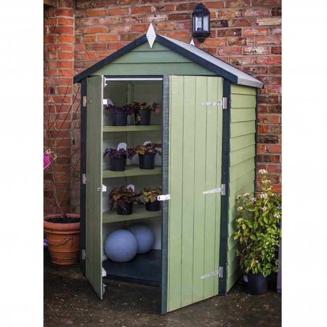 Click to view product details and reviews for 4 X 3 Overlap Apex Shed With Shelves.