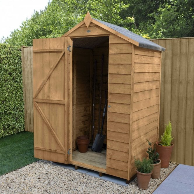 4 X 3 Overlap Dip Treated Apex Shed