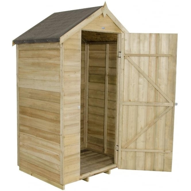 4 x 3 Overlap Pressure Treated Apex Shed
