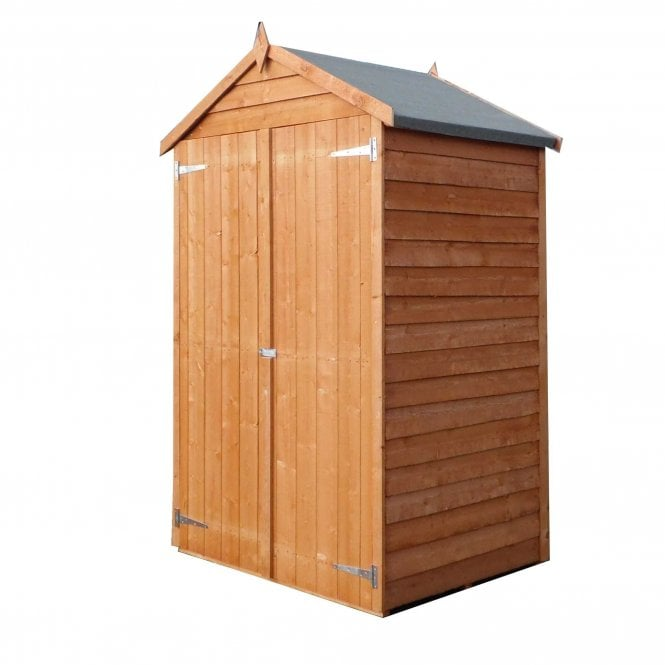 4 X 3 Overlap Pressure Treated Double Door Shed
