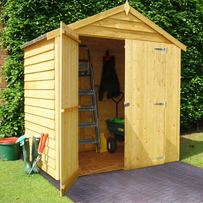 Click to view product details and reviews for 4 X 6 Overlap Pressure Treated Shed.