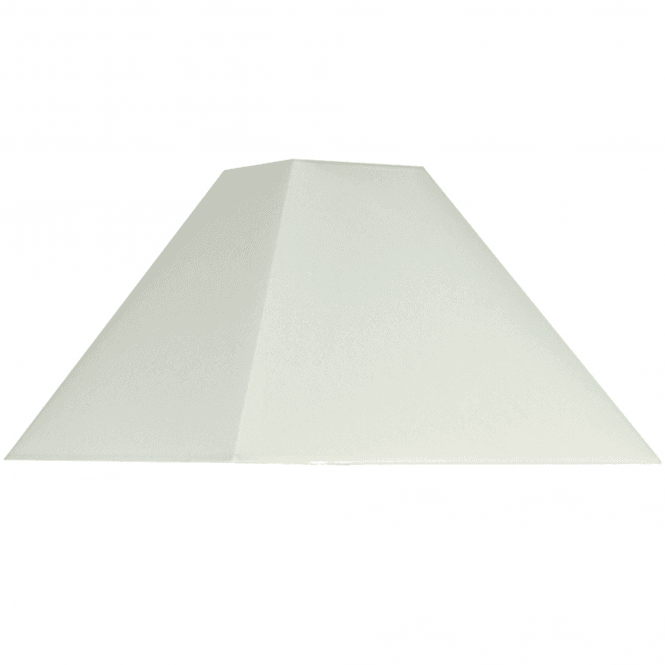Click to view product details and reviews for 40cm Cream Cotton Tapered Square Shade.