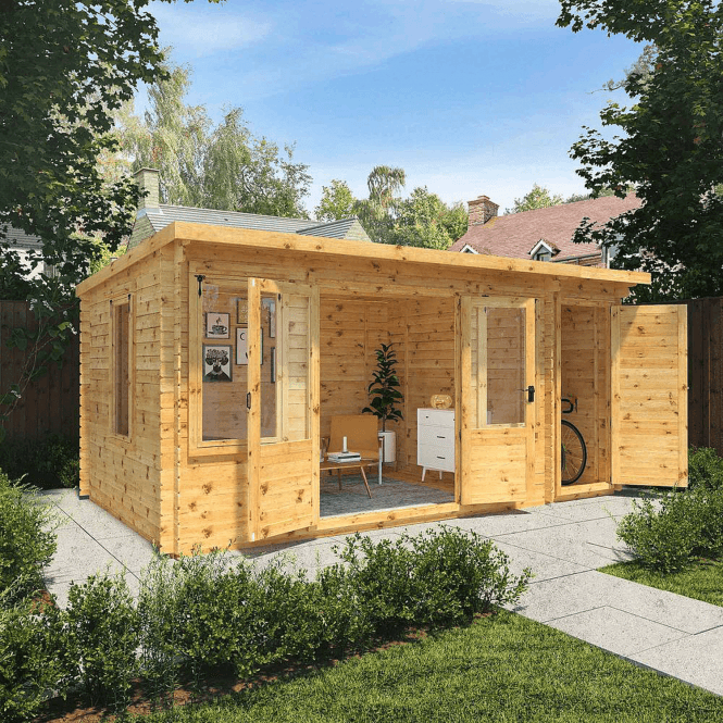 Click to view product details and reviews for 51m X 24mm Pent Log Cabin With Side Shed 19mm.