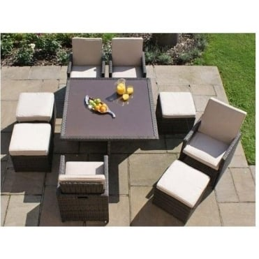 5pc Cube Set with Footstools