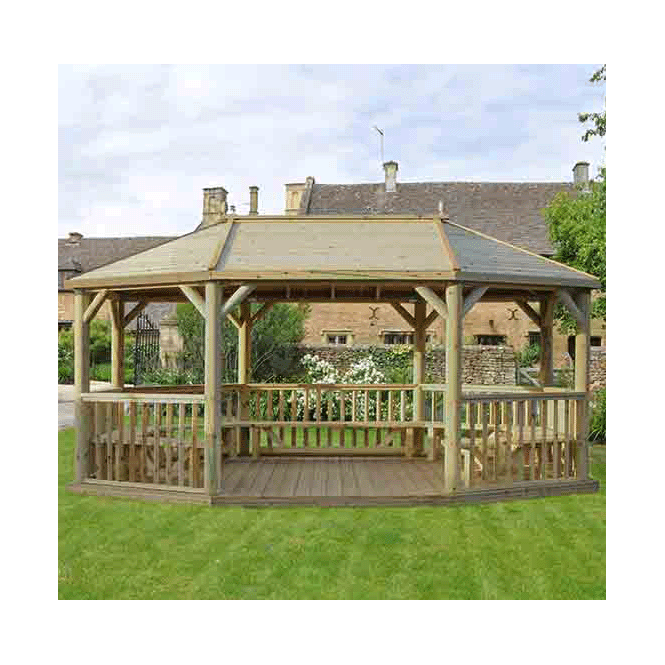 Click to view product details and reviews for 60m Premium Oval Gazebo With Traditional Timber Roof.