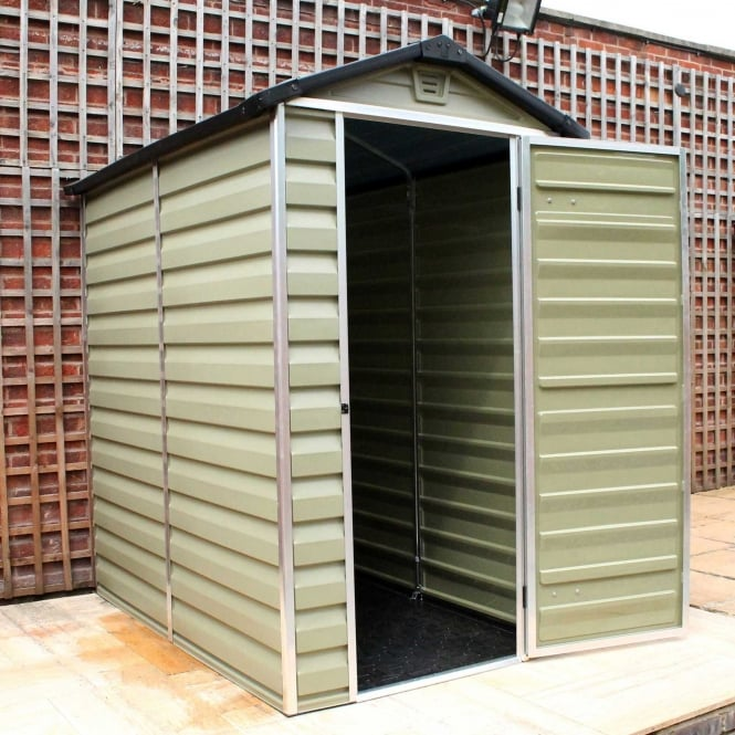6 x 4 Green Apex Plastic Shed