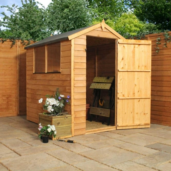 Click to view product details and reviews for 6 X 4 Overlap Apex Shed Single Door.