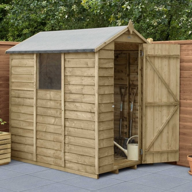 Click to view product details and reviews for 6 X 4 Overlap Pressure Treated Apex Shed.