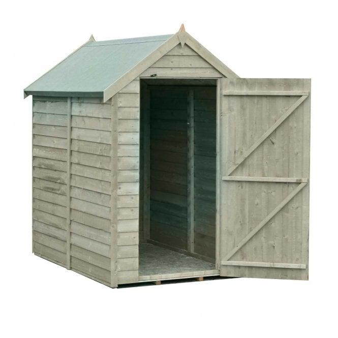 Click to view product details and reviews for 6 X 4 Value Overlap Pressure Treated Shed.