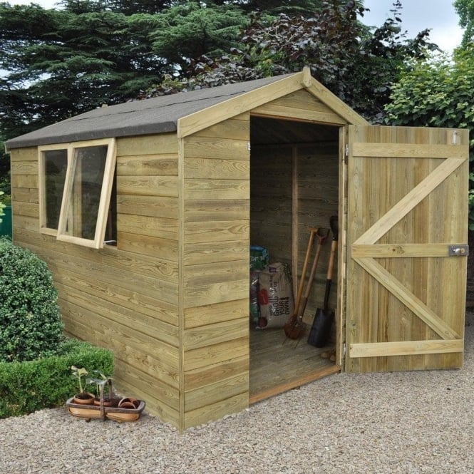 Click to view product details and reviews for 6 X 8 Premium Tongue And Groove Pressure Treated Apex Shed.