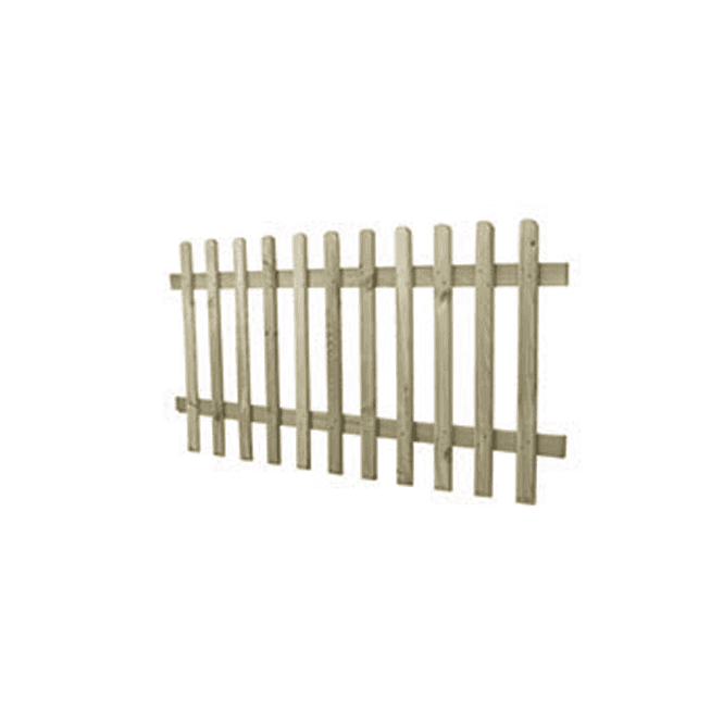 Click to view product details and reviews for 6ft X 3ft Pressure Treated Ultima Pale Picket Fence Panel.