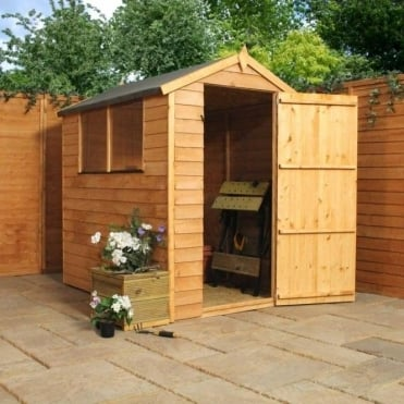 6x4 Overlap Apex Shed Single Door
