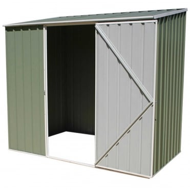 ABSCO 7 x 3 Space Saver Metal Shed in Pale Eucalyptus