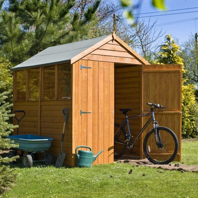 Click to view product details and reviews for 7 X 5 Overlap Apex Double Door Shed.