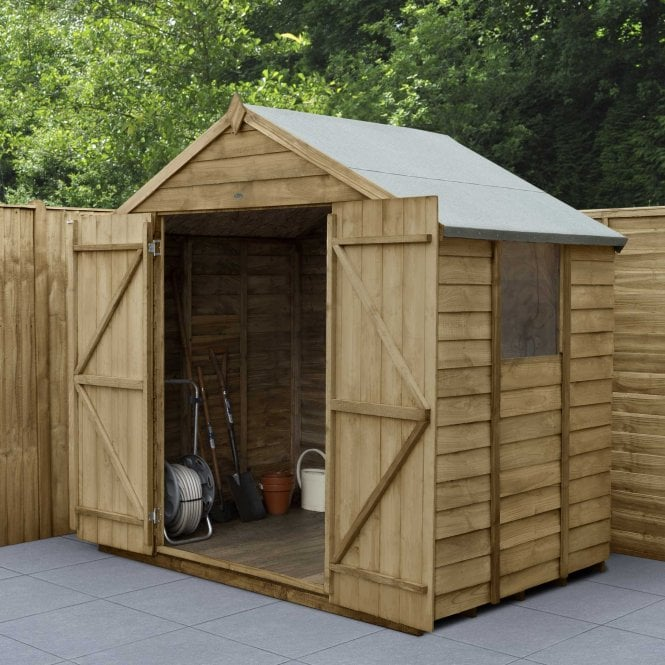 Click to view product details and reviews for 7 X 5 Overlap Pressure Treated Apex Shed Double Doors.