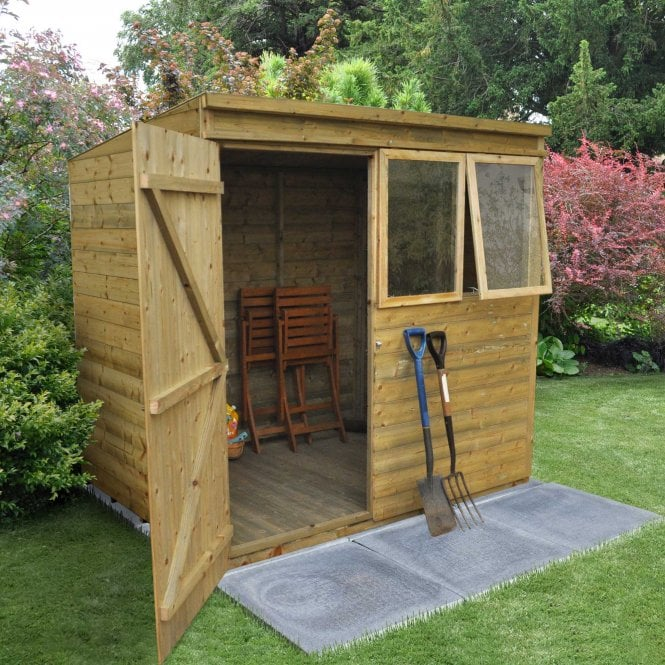 7 X 5 Premium Tongue And Groove Pressure Treated Pent Shed