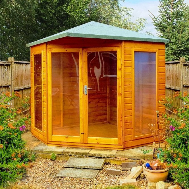 Click to view product details and reviews for 7 X 7 Larkspur Corner Summerhouse.