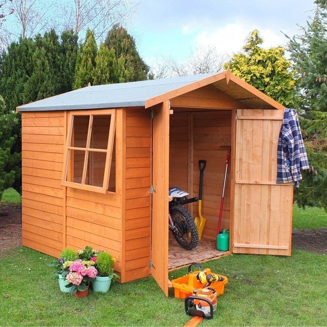 Click to view product details and reviews for 7 X 7 Overlap Apex Double Door Shed.