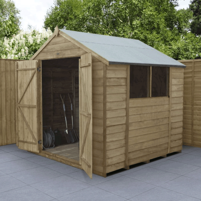 Click to view product details and reviews for 7 X 7 Overlap Pressure Treated Apex Shed Double Doors.