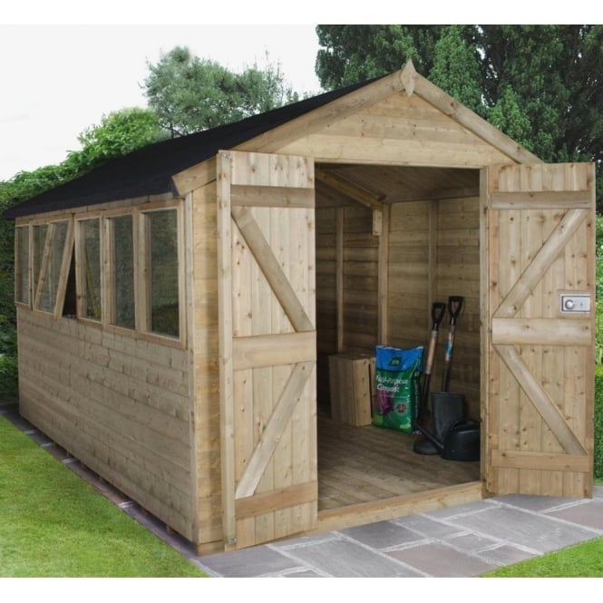 Click to view product details and reviews for 8 X 12 Premium Tongue And Groove Pressure Treated Apex Shed.