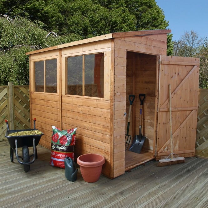 Click to view product details and reviews for 8 X 4 Shiplap Pent Shed Unit.