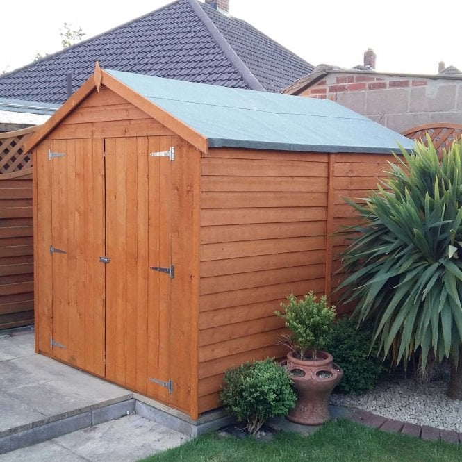 Click to view product details and reviews for 8 X 6 Overlap Apex Double Door Shed.